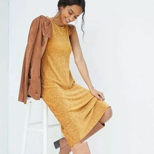 Anthro Maeve Gold Adrienne Dress Small Petite New